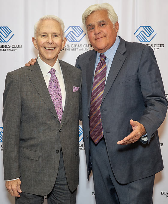 Allen with Jay Leno at Comics For Kids Annual Boys & Girls Club Gala Dinner.